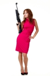woman-in-dress-with-gun